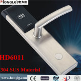 Cerradura de puerta electrónica Keyless del hotel del acero inoxidable 304 (HD6011)