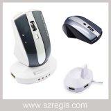Rato ótico do rádio do computador do jogo novo do USB da economia de energia 2.4GHz