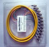 12 coleta óptica unimodal óptica de la coleta FC/Upc de fibra de la base FC