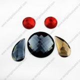 Flat coloré Back Decorative Drop Glass Beads pour Garment From Chine Supplier