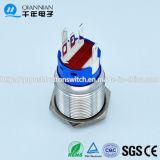 Tipo del PUNTINO di Qn19-C3 19mm momentaneo|Aggancio dell'interruttore di pulsante capo piano del metallo