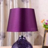 De Europese Schemerlamp van de Lamp van het Bureau van het Hotel Decoratieve Purpere Ceramische
