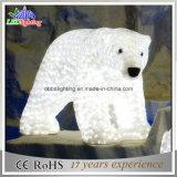 Свет мотива медведя украшения 3D праздника СИД рождества напольный акриловый