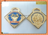 世界選手権70mm*79mm亜鉛合金の金の円形浮彫り(JINJU16-065)