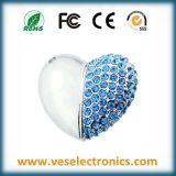 Corazón Joyería Pulsera USB Diseño de regalos de boda Flash Drive