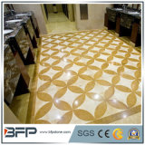 Quadratisches natürliches Marmorsteinwasserstrahlmosaik für Hotel-Dekoration