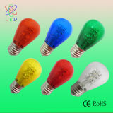 LED Yellow Coloured S14 1.5W E27 Bulb für Festive String Bulbs
