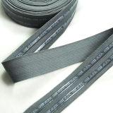 China-Top Ten, das hohes elastisches kundenspezifisches schwarzes elastisches Band-Silikon verkauft