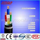 De Kabel van het aluminium, de Kabel van pvc, de Gepantserde Kabel van 4 Kern