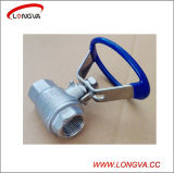 Oval Handle를 가진 위생 Stainless Steel Two Piece Threaded Ball Valve