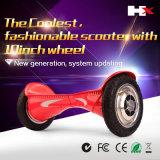 """""""trotinette"""" de equilíbrio do auto esperto da roda da polegada 2 de Hx 10 com o auto de Bluetooth que balança Hoverboard elétrico"""