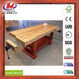 Vector de trabajo de la tarjeta de la junta de tope de madera sólida