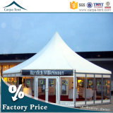 Wall en verre 8m Diameter Marquee Multi-Sided Party Tent avec Luxurious Decorations