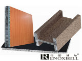 AluminiumHoneycomb Panel mit Wood Look Finished
