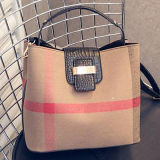 Sacos de ombro de venda superiores Sy7750 do saco de compra do Tote das mulheres das bolsas da cubeta