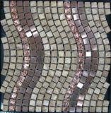 Mattonelle di pietra di marmo, mattonelle di mosaico di ceramica, mattonelle di pavimento di cristallo del mosaico dell'acciaio inossidabile (FYSMG130)