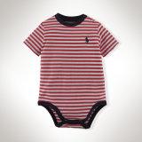 O grande desgaste infantil da tela de algodão veste ternos listrados do bebê