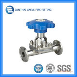 Clamped End를 가진 Santhai Manual Diaphragm Valve