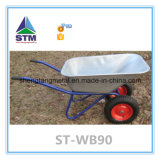 Galvernized o Coating Metal Tray Wheelbarrow con Pneumatic o Solid Wheel