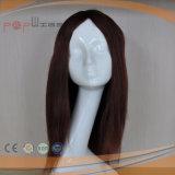 Da base dianteira do laço da parte alta mão cheia peruca longa high-density amarrada do cabelo humano