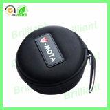 Caja portable del auricular de la cremallera impermeable dura del shell con el gancho de leva (JHC023)