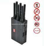 Brouilleur tenu dans la main de WiFi de brouilleur du brouilleur GPS de Lojack de brouilleur de téléphone de 6-Band 2g 3G 4G