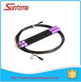 Corde de saut colorée de câble de vitesse avec le traitement en aluminium, corde de saut, corde de saut à grande vitesse réglable, corde de saut de Crossfit