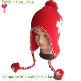 جديدة حاسوب رف يحبك أحمر وبيضاء فتى بنات شتاء [إرفلب] قبّعة