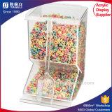 Distribuidor acrílico dos doces do estilo feito sob encomenda desobstruído