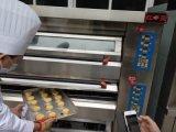 Forno elétrico da bandeja profissional da plataforma 4 da máquina 2 da padaria com certificado do Ce