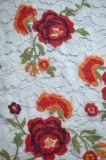 Tissu de lacet de type de mode avec la broderie pour Dresses et textile à la maison de Madame