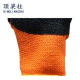 7gオレンジアクリルのうたた寝のライニングの乳液のしわの上塗を施してある安全手袋