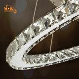 Dormitorio moderno cristalino espiral de la lámpara de 3 anillos con Dimmable