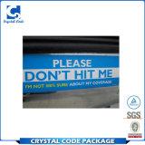 Etiqueta autoadhesiva de parachoques movible material del PVC para el automóvil
