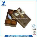 매트 초콜렛 선물 종이상자를 인쇄하는 최신 우표 로고