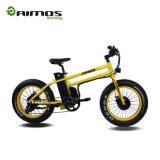 vélo électrique de gros pneu jaune de 20inch 750W