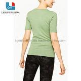 Géneros de punto cortos de moda del suéter del espacio en blanco de la funda con el cuello redondo
