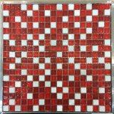 15X15mm, Glas und Steinmisch-, rote Farben-Mosaik (M815007)
