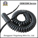 Câble spiralé de ressort de câble du prix bas TPU Pur de qualité