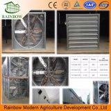 A estufa/aves domésticas abriga o ventilador axial da circulação de ar