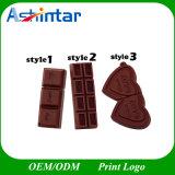 Movimentação do flash do USB do chocolate do PVC do USB Pendrive dos desenhos animados