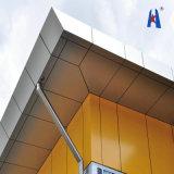 Hojas de aluminio recomendadas proyecto del revestimiento de la pared
