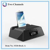 Altavoz del muelle de Bluetooth con el mecanismo impulsor teledirigido de radio del flash del USB de la tarjeta del TF del soporte del reloj de alarma de FM/AM