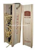 Glissement de la boîte en bois exquise à vin de conception classique de couvercle