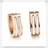 方法宝石類の真珠の宝石類のステンレス鋼のイヤリング(EE0122)