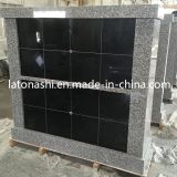 묘지를 위한 디자인 Black와 Grey Granite Stone Niches Columbariums