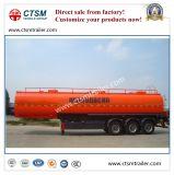 3-Axle 42cbm Kohlenstoffstahl-flüssiger Öltanker-halb Schlussteil