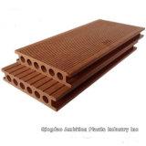 Decking de l'horizontal WPC pour le plancher privé de jardin