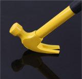 O martelo de garra com borracha revestiu, integrou o martelo com aço forjado