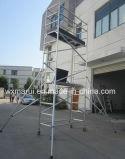 Le GV a reconnu l'échafaudage en aluminium de mobile de 5m pour la maintenance